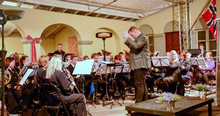 Tønsberg Janitsjarkorps konserten, dirigenten Rune Bergmann